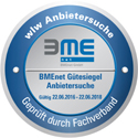 Durch den Fachverband BME geprüfte Qualitätsstandards.